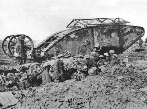 Mark I 25. září na bitvě na Sommě